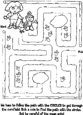 Easy Maze Dora The Explorer