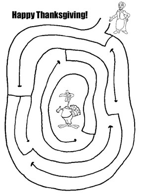 Easy Maze Thanksgiving