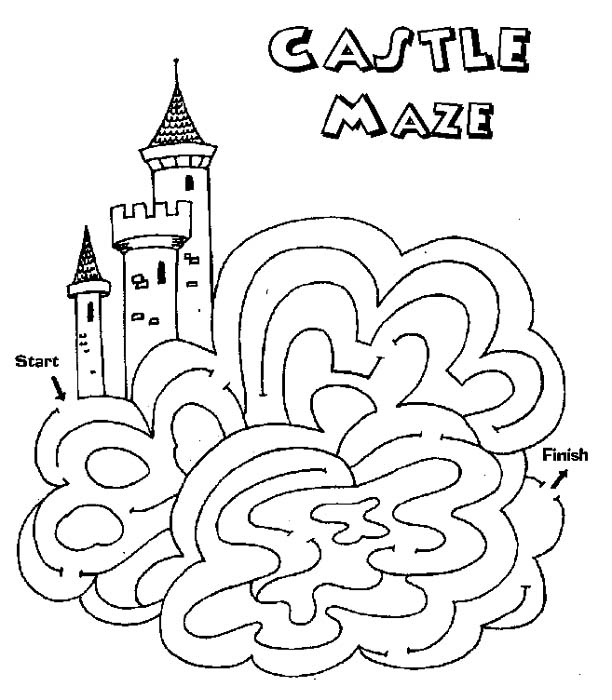 Worksheets Maze Worksheets free printable mazes for kids all network medium mazes