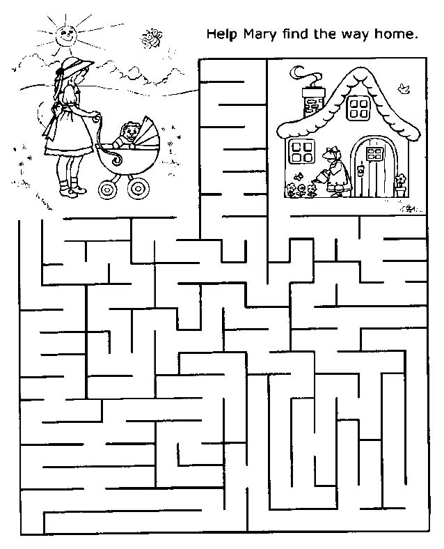 Printable Mazes - Print your Maze Find Home puzzle | All ...