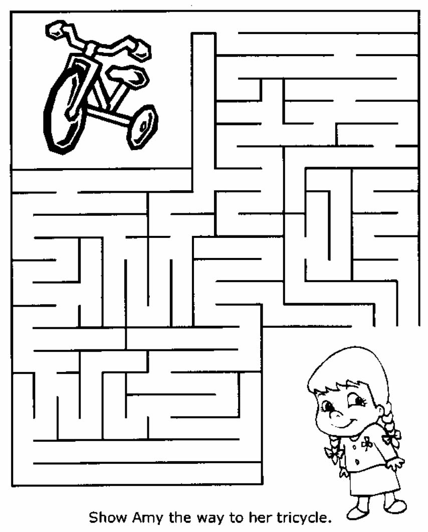 Free Printable Mazes for Kids – Kids Worksheets