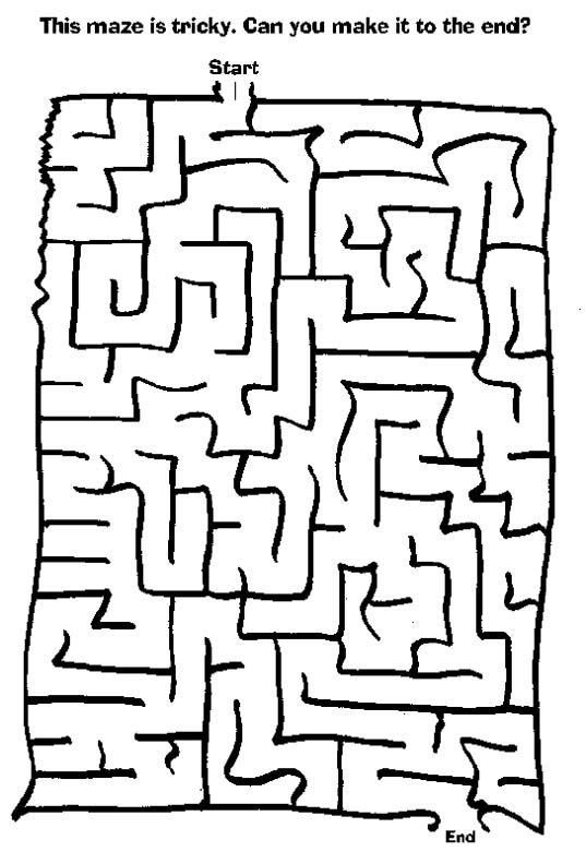 Free Mazes For First Graders