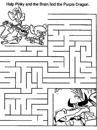 Medium Maze Pinky And The Brain