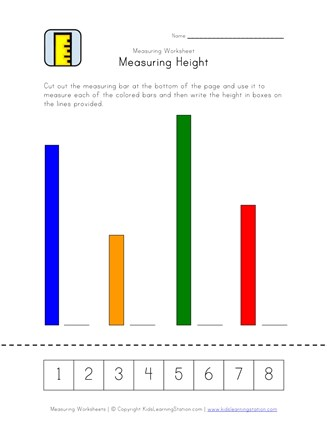 measuring height worksheet
