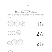 counting money worksheet two