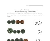 counting money worksheet three
