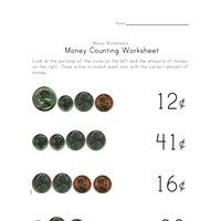 counting money worksheet four