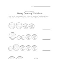 money counting worksheet two