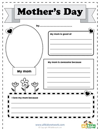 mothers day worksheets all kids network