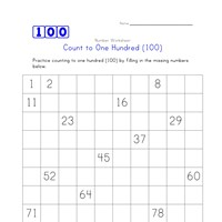 count to 100 worksheet