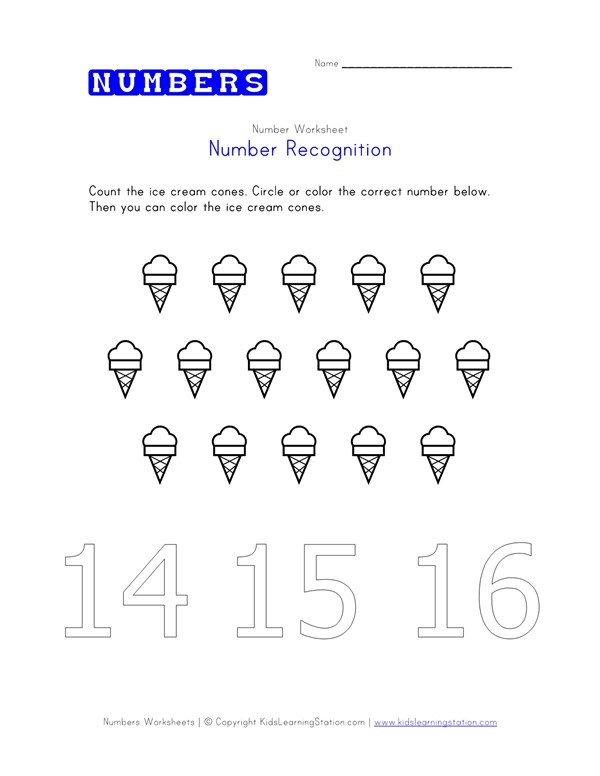 Practice Counting To Sixteen Printable Numbers Worksheet All Kids Work: Number 16 Worksheets At Alzheimers-prions.com