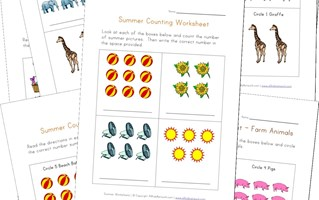 counting practice worksheets