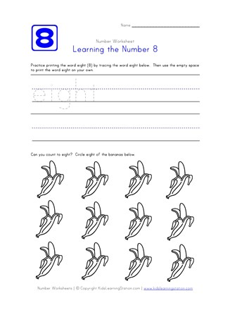 Learning Number 8