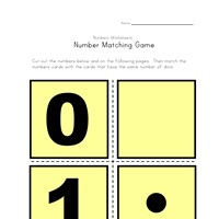 numbers matching game