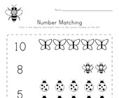 Bug Number Matching Worksheet
