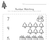 Christmas Number Matching Worksheet