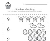 Easter Number Matching Worksheet