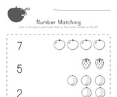 Fruit Number Matching Worksheet