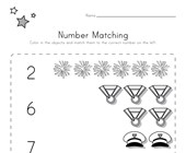 Memorial Day Number Matching Worksheet