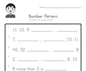 Number Pattern Worksheet 6