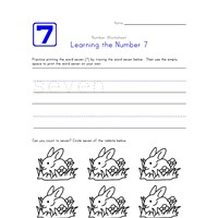 Learning Number 7