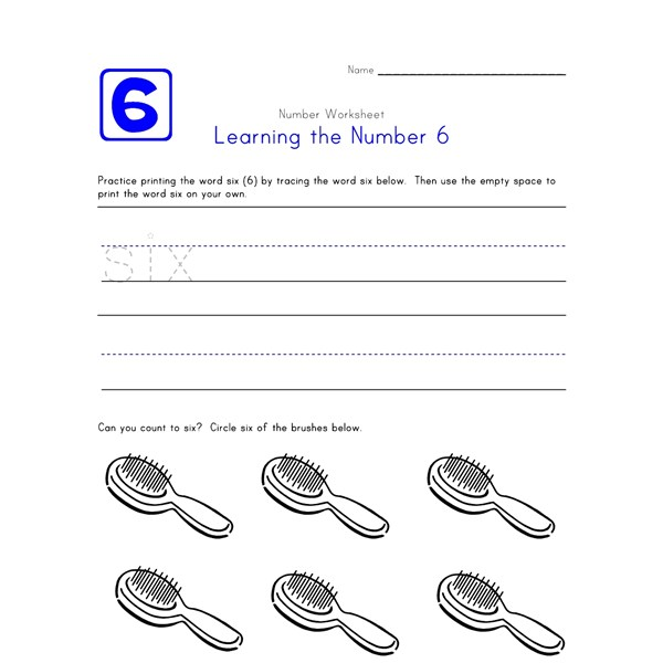 Learning Number 6