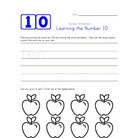 Learning Number 10