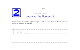 Learning Number 2