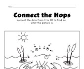 frog connect the dots worksheet