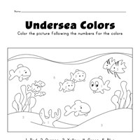 fish color by numbers worksheet