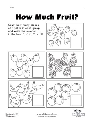 Numbers 1 - 10 Worksheets | All Kids Network