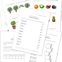 ordinal numbers worksheets