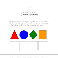 ordinal numbers matching