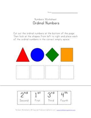 Ordinal Numbers Worksheets All Kids Network