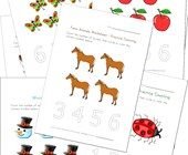 themed counting worksheets