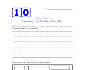 Learning Number Ten