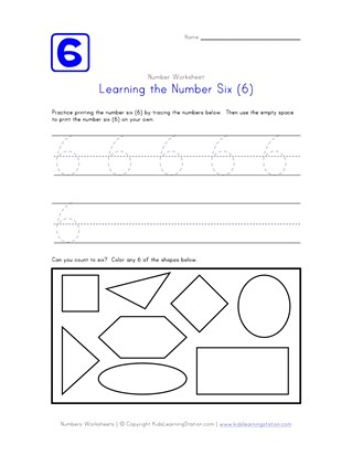 Learning Number Six