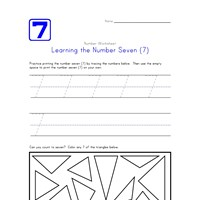 Learning Number Seven
