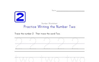 Writing Number Two 2