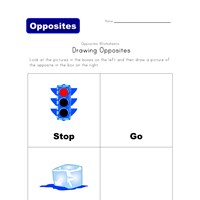 draw the opposite - stop/go and cold/hot