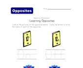 write opposite words worksheet