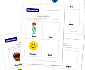 drawing opposites worksheets