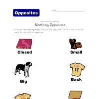 matching opposites worksheet 2