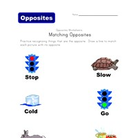 matching opposites worksheet 3