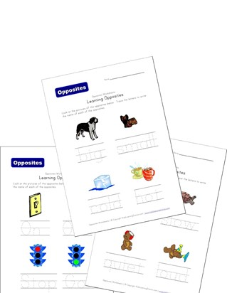 opposite words worksheets
