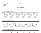4th of July Color the Patterns Worksheet