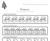 Christmas Color the Patterns Worksheet