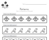 Spring Color the Patterns Worksheet