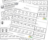 color the patterns worksheets