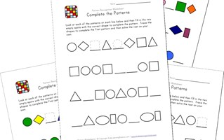 15+ Awesome Free Pattern Worksheets | All Kids Network